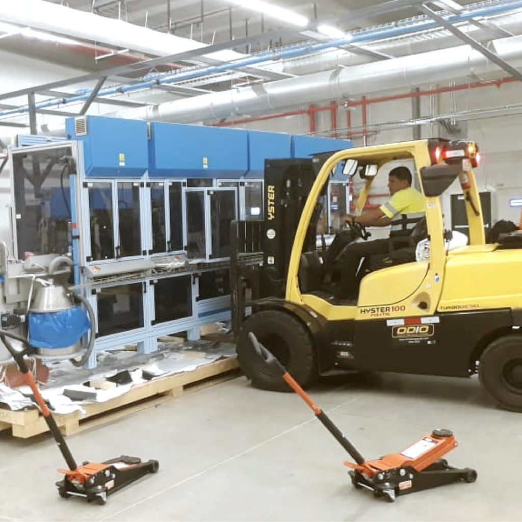 montaja industrial montacargas odio maquinaria proyecto